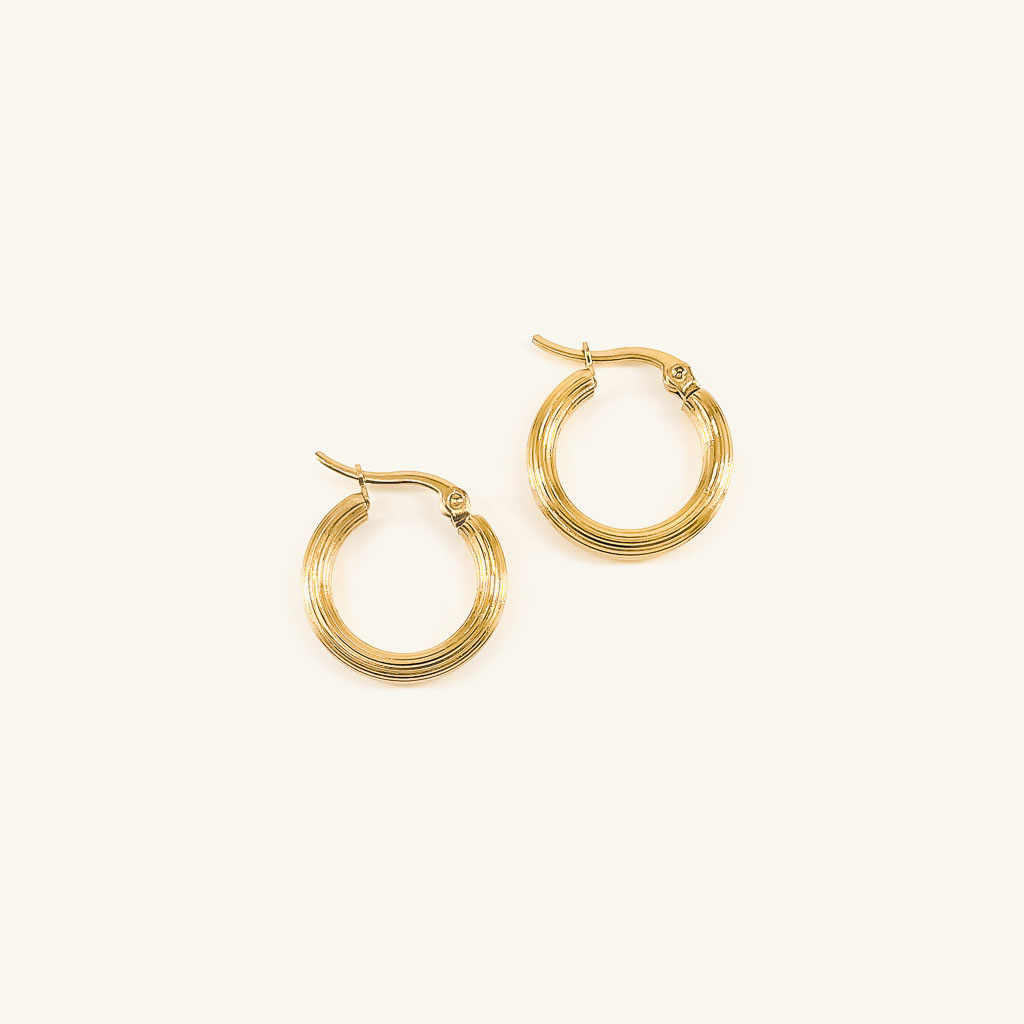Gold plated Ava hoops earrings jewelry