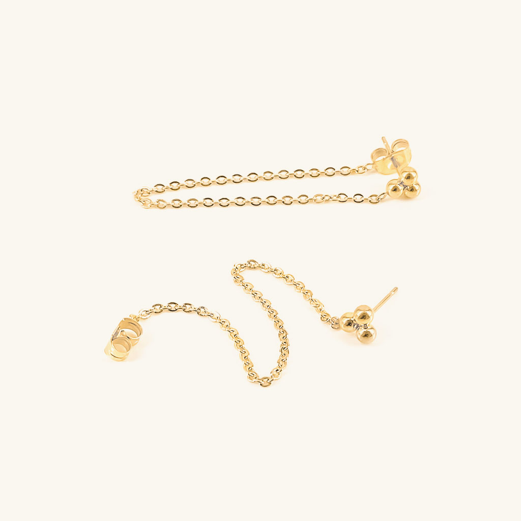 Gold plated earrings jewelry Isa