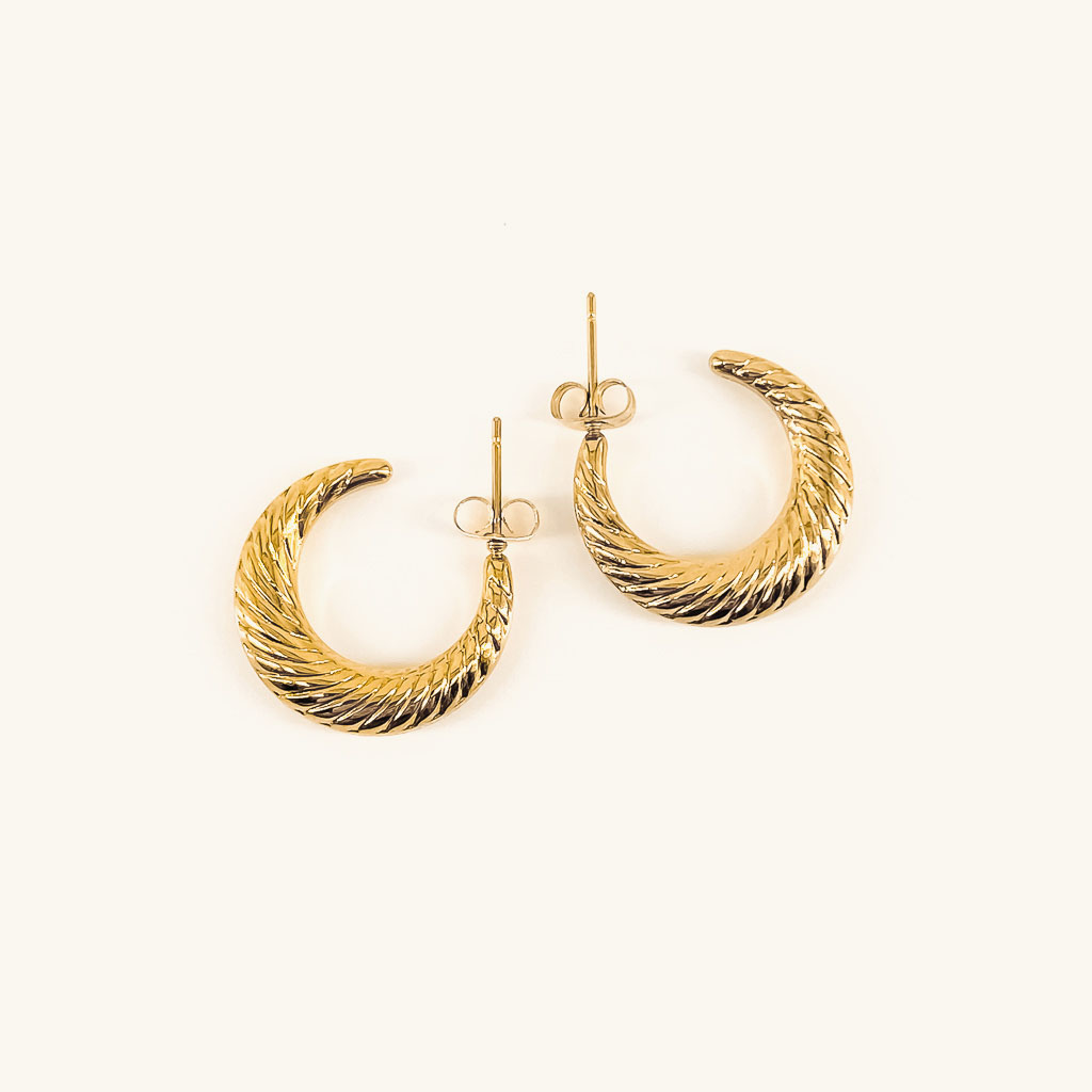 Gold plated Sara hoops jewelry