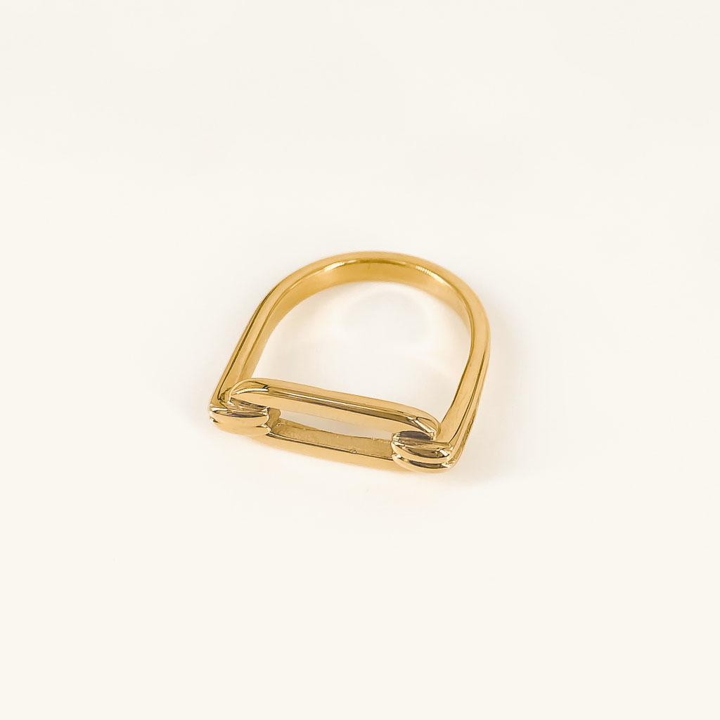 Livia ring gold plated waterproof jewelry