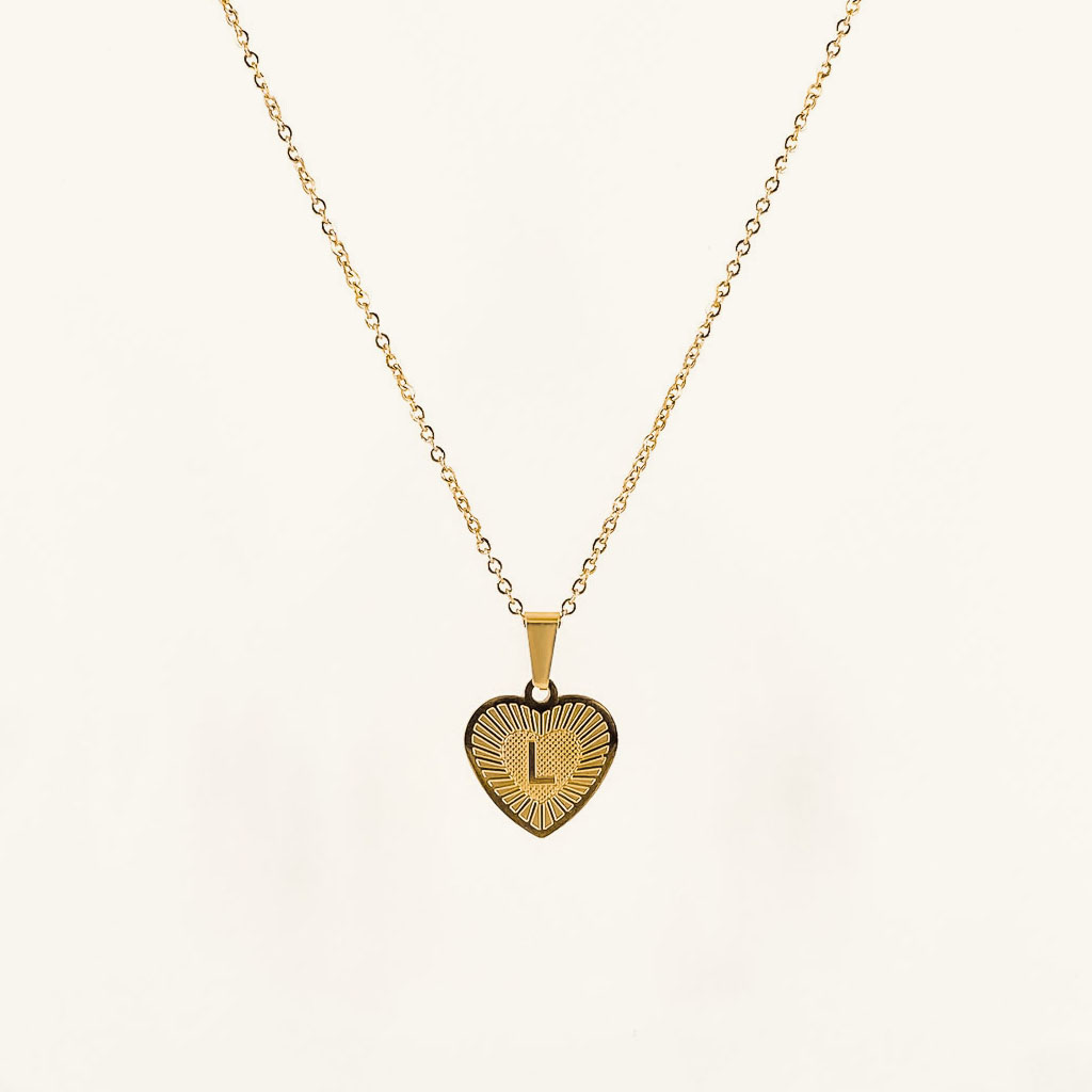 Valentine necklace gold plated