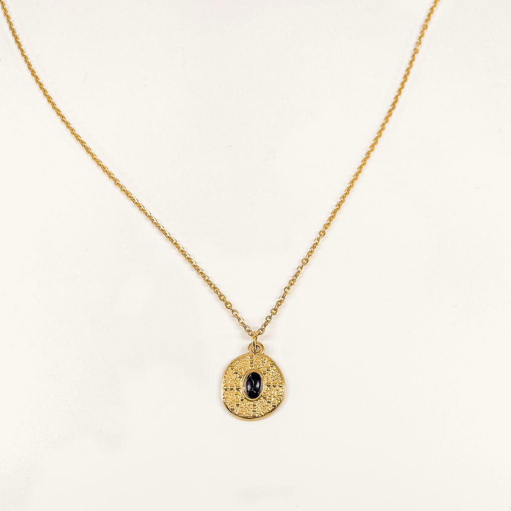 Gold plated necklace with pendant waterproof jewelry